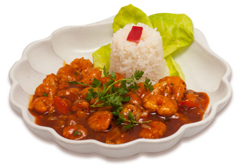 Sweet and sour shrimps