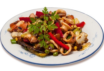 Stir-fried Squid with Vegetables